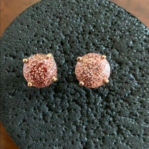 Kate spade ♠️ earrings rose tone ❤️
